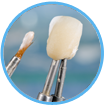 Clean and floss crowns, bridges, and veneers