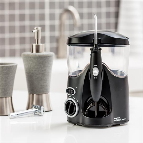 Black Ultra Water Flosser WP-112 In Bathroom