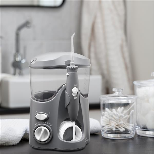 Gray Ultra Water Flosser WP-117 In Bathroom