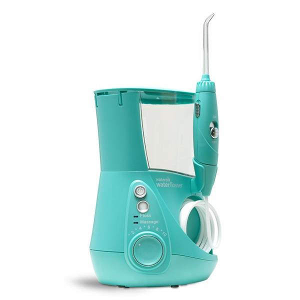 Sideview - WP-676 Teal Aquarius Designer Series Water Flosser, Handle, & Tip