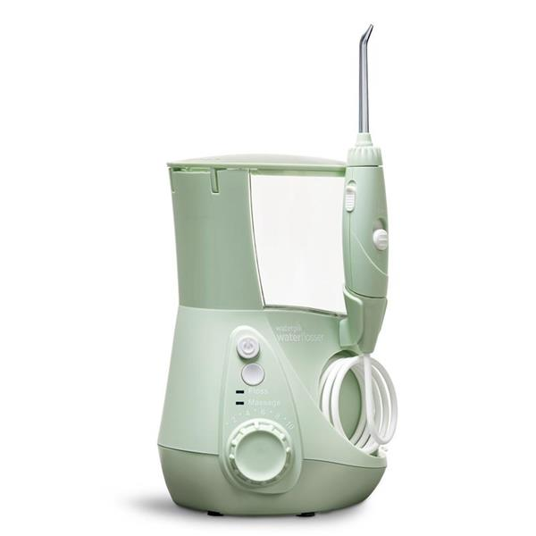 Sideview - WP-668 Mint Green Aquarius Water Flosser, Handle, & Tip