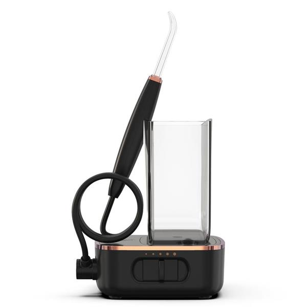 Sideview - WF-04 Black Sidekick Water Flosser, Handle, & Tip