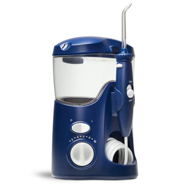 Sideview - WP-113 Blue Ultra Water Flosser, Handle, & Tip