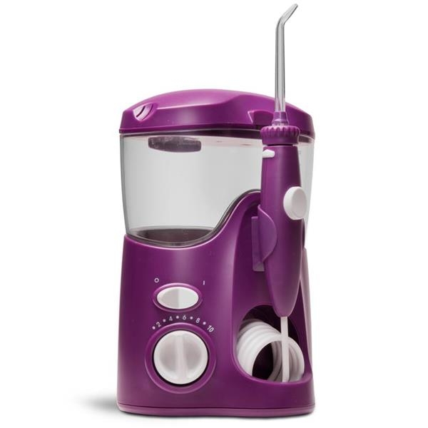 Sideview - WP-115 Orchid Ultra Water Flosser, Handle, & Tip