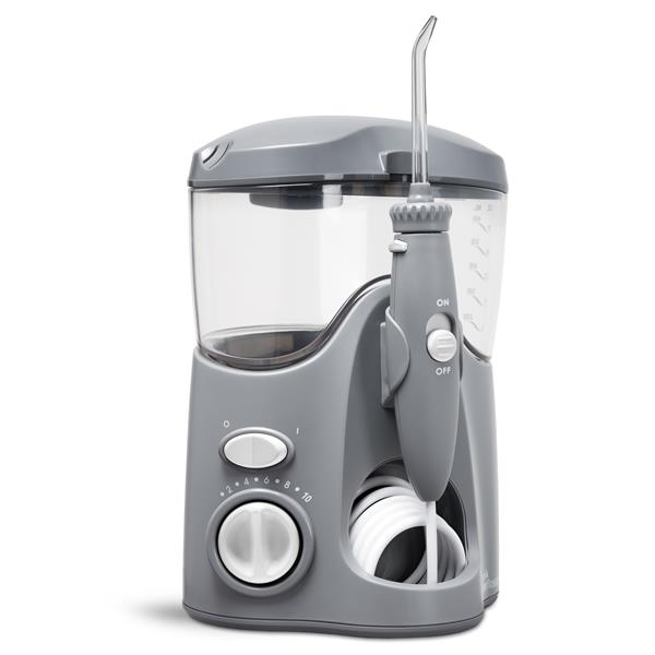 Sideview - WP-117 Gray Ultra Water Flosser, Handle, & Tip