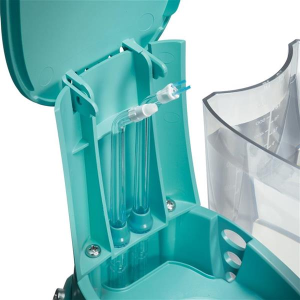 On Board Tip Storage - WP-676 Teal Aquarius Designer Series Water Flosser