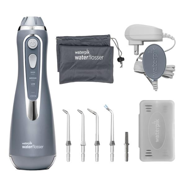 Water Flosser & Tip Accessories - WP-567 Modern Gray Cordless Advanced Water Flosser