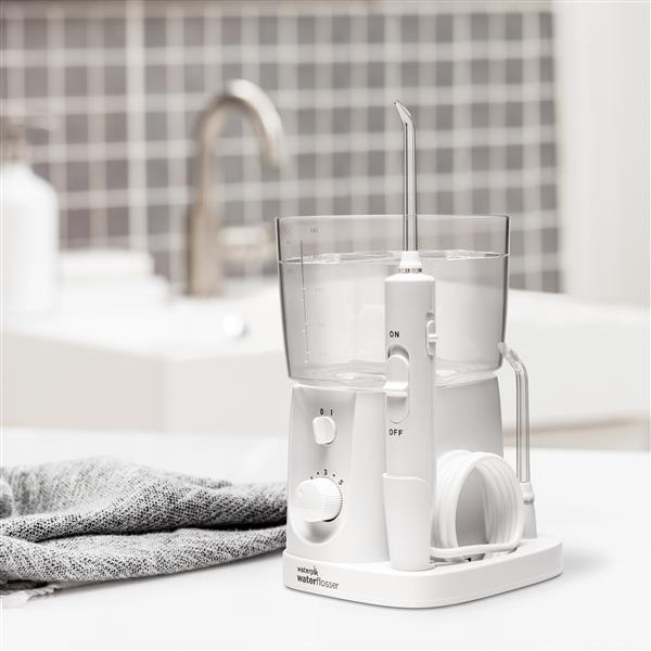 White Nano Plus Water Flosser WP-320 in Bathroom