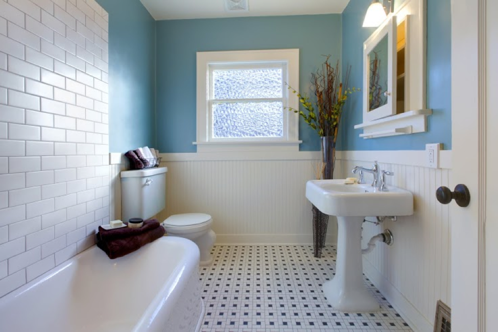 Brighten Up Your Bathroom With Fresh Paint New Flooring