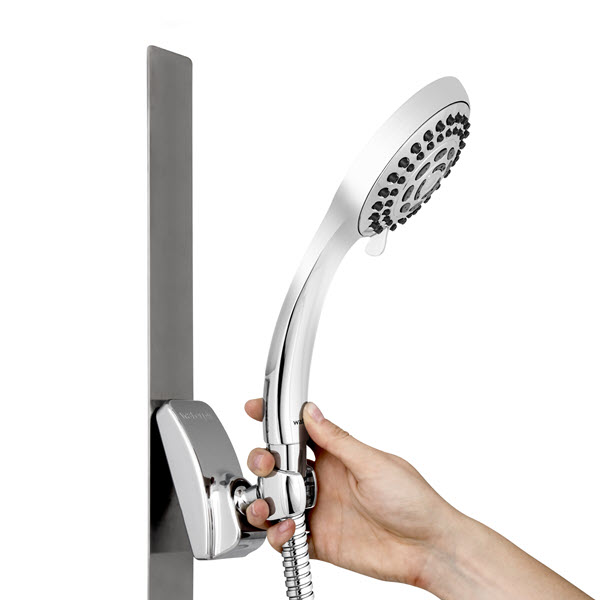 magnetic slide strip shower head