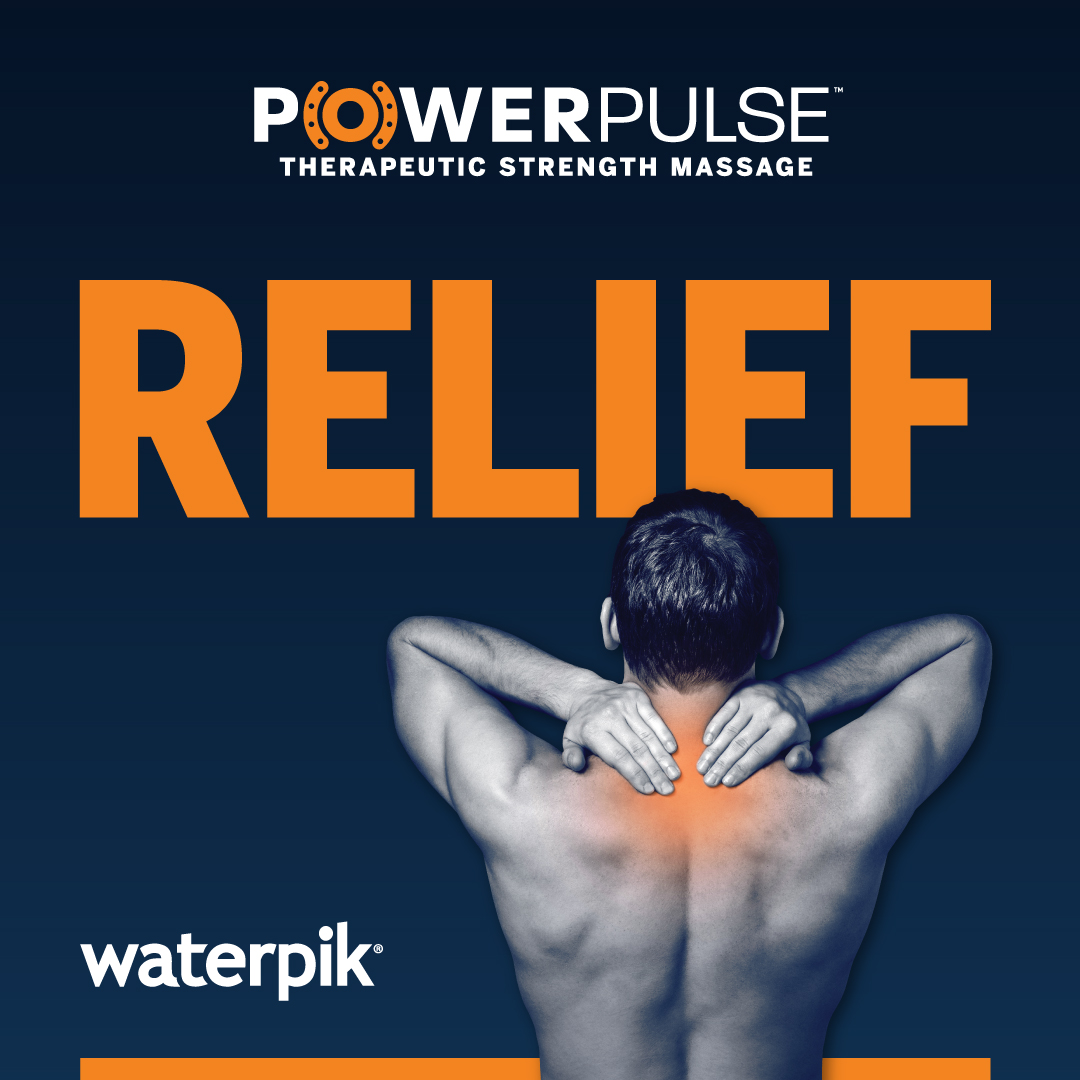 Waterpik® PowerPulse Therapeutic Strength Massage: Helps to Relieve General Stress