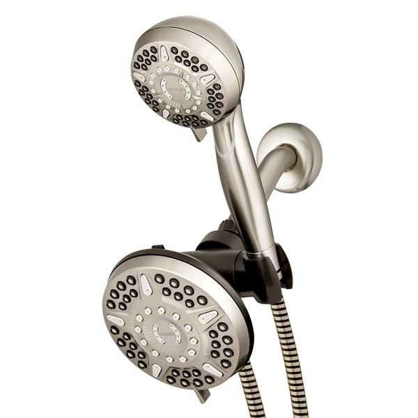 XET-639E-649E Brushed Nickel Dual Shower Head