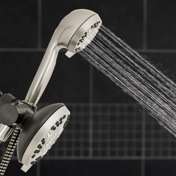 XET-639-649E Dual - Hand Held Shower Head Spraying Water