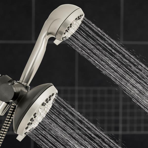 XET-639E-649E Dual Shower Heads Spraying Water