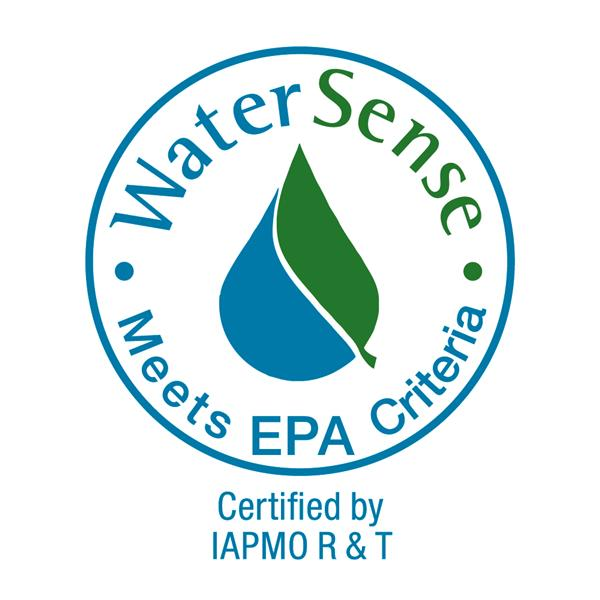 WaterSense Certified by IAPMO R&T